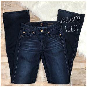 7FAMK Kimmie Bootcut Denim Blue Jeans. Size 23